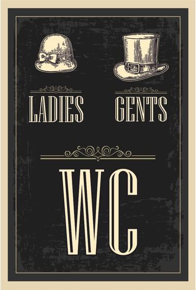 Atc Wc Tuvalet Retro Vintage Ahşap Poster 2030050