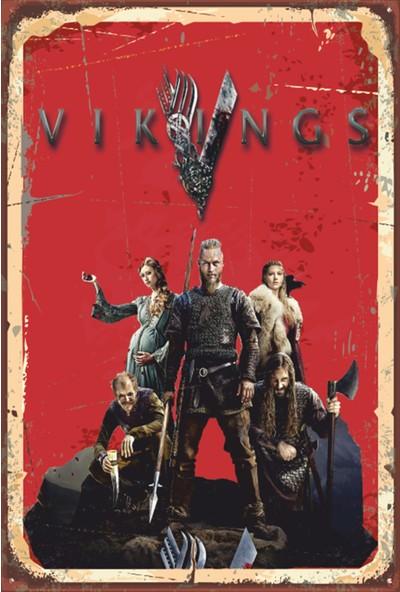 Atc Vikings Retro Vintage Ahşap Poster