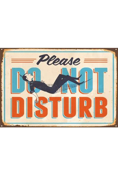 Atc Lütfen Rahatsız Etmeyin Retro Vintage Ahşap Poster