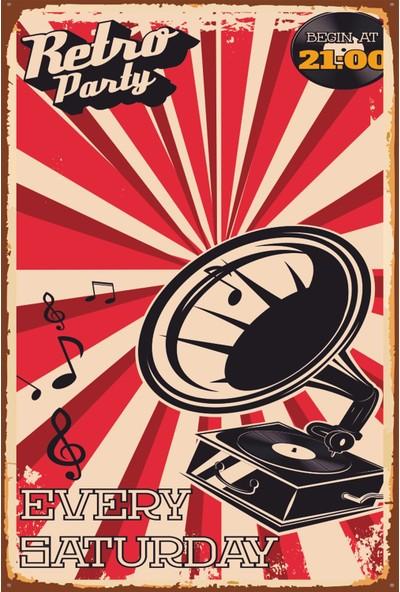 Atc Retro Parti Vintage Ahşap Poster