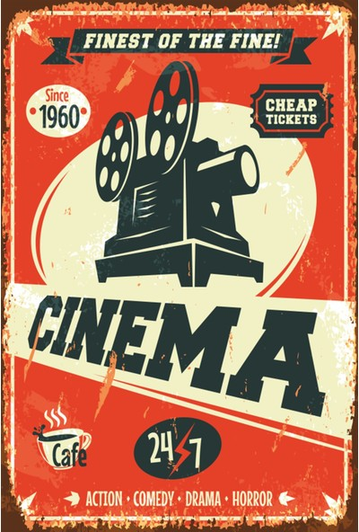 Atc Sinema Retro Vintage Ahşap Poster 2030037