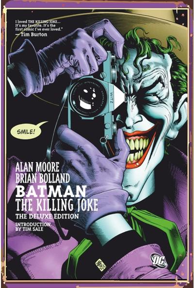 Atc Joker Retro Vintage Ahşap Poster