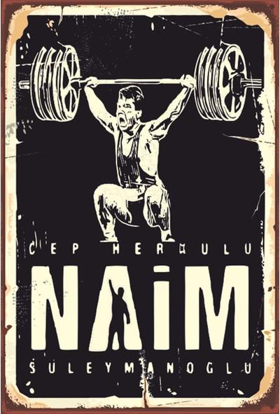 Atc Naim Süleymanoğlu Cep Herkülü Retro Vintage Ahşap Poster