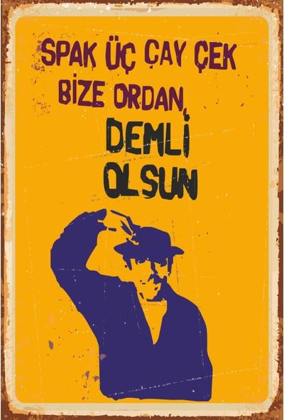 Atc Sadri Alışık Yeşilçam Retro Vintage Ahşap Poster