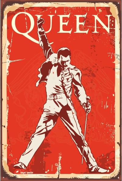 Atc Queen Freddie Mercury Retro Vintage Ahşap Poster
