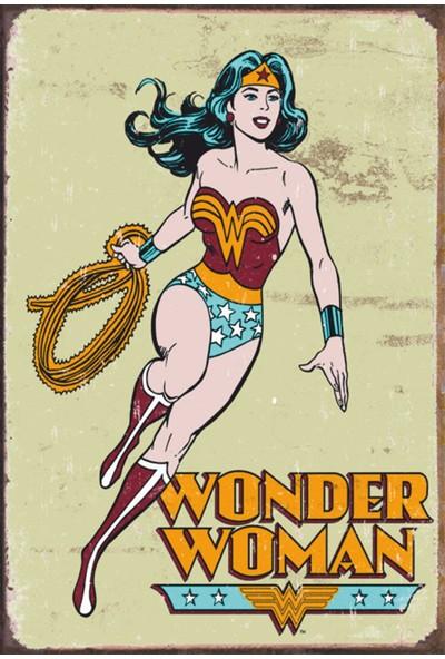 Atc Wonder Woman Marvel Retro Vintage Ahşap Poster 2030015