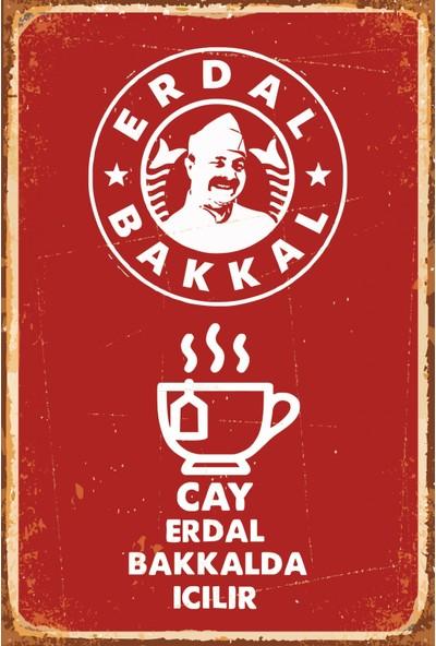 Atc Leyla ile Mecnun Erdal Bakkal Retro Vintage Ahşap Poster