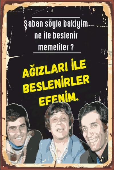 Atc Hababam Sınıfı Yeşilçam Retro Ahşap Poster 2030004