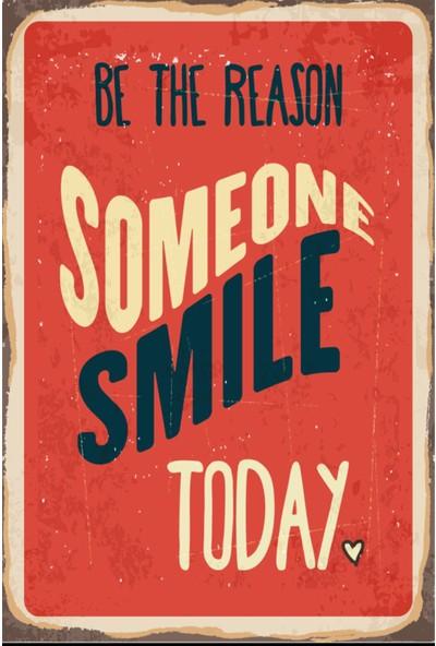 Atc Bugün Gülümse Retro Vintage Ahşap Poster 2030022