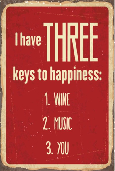Atc Şarap Müzik Sen Retro Vintage Ahşap Poster