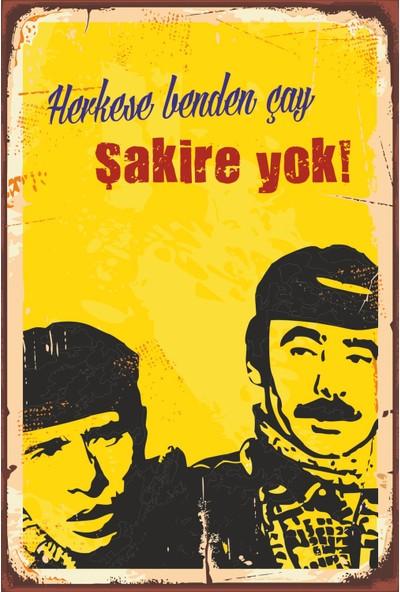 Atc Herkese Benden Çay Şakire Yok Yeşilçam Retro Vintage Ahşap Poster