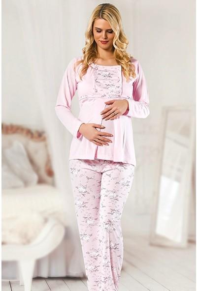 Işılay Kadın Hamile & Lohusa Pijama Takımı Mevsimlik