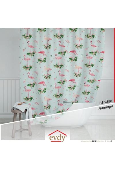 Evdy Duş Perdesi Çift Kanat 9888 Flamingo 100 x 200 cm