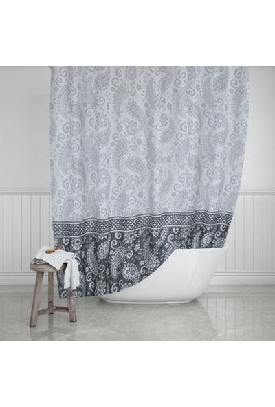 Evdy Duş Perdesi 2102 Şal Desen Tek Kanat 180 x 200 cm