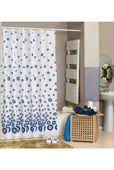 Evdy Duş Perdesi Nazar Boncuğu Çift Kanat 100 x 200 cm