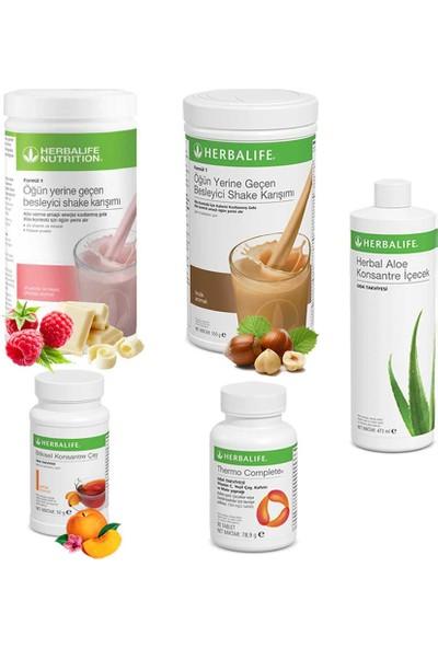Herbalife Ahududu Shake 1 - Fındık Shake 1 - Çay Şeftali - Aloe Vera - Thermo Complete