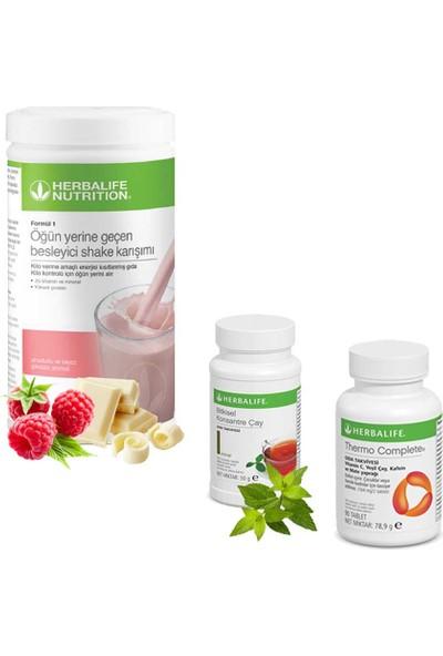 Herbalife Ahududu Shake - Herbalife Çay Klasik 50 gr - Herbalife Thermo Complete