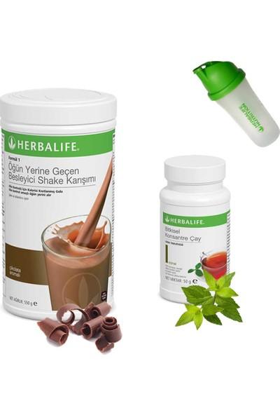 Herbalife Shake Çikolata - Herbalife Çay Klasik 50 gr - Shaker