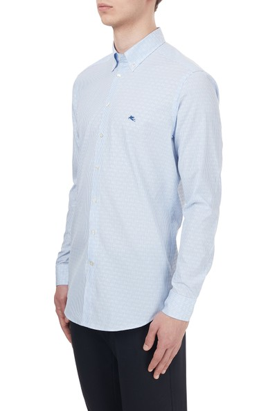 Etro Pamuklu Düğmeli Yaka Slim Fit Gömlek Erkek 1K964 3002 0250