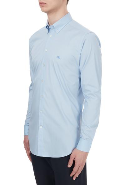 Etro Pamuklu Düğmeli Yaka Slim Fit Gömlek Erkek Gömlek