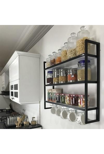 Mudesa Duvara Monte Mutfak Terek Rafı Tereği Modern Mutfak Tahtası Baharatlık Raf