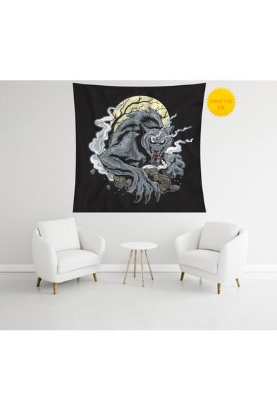 Retro Mandala ve Retro Tarz Duvar Örtüsü 100 x 100 cm 445