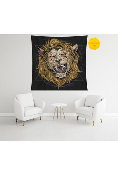 Retro Mandala ve Retro Tarz Duvar Örtüsü 100 x 100 cm 412