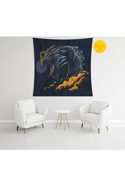 Retro Mandala ve Retro Tarz Duvar Örtüsü 100 x 100 cm 451