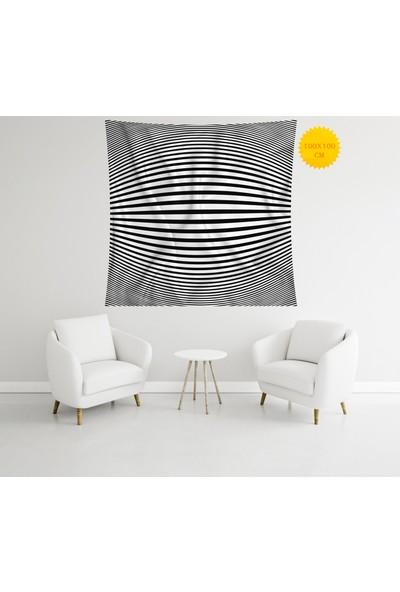 Retro Mandala ve Retro Tarz Duvar Örtüsü 100 x 100 cm 310