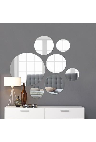 Aypars Atölye Dekoratif Duvar Aynası Altıgen Set 7 Parça 4 mm Flotal Ayna