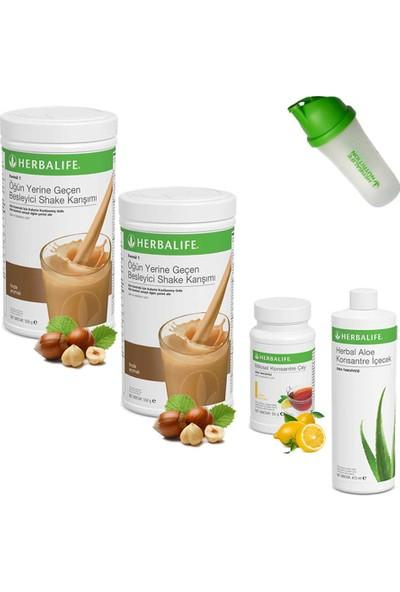Herbalife Shake Fındık 2 - Herbalife Çay Limon - Herbalife Aloe Vera - Shaker