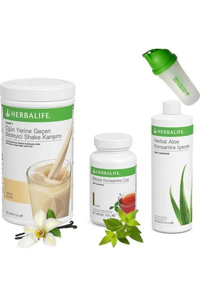 Herbalife Shake Vanilya - Herbalife Çay Klasik 100 gr - Herbalife Aloe Vera - Shaker