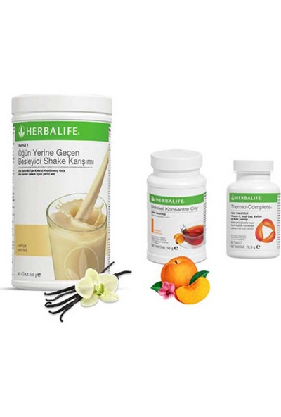 Herbalife Vanilya Shake - Şeftali Çay 50 gr - Thermo Tablet