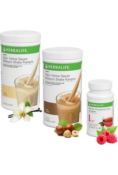 Herbalife Shake Vanilya 1 Fındık 1 - Herbalife Çay Ahududu