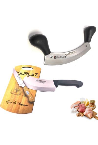 SürLaz Zırh Bıçak 3'lü Set Soğan Satırı Kebap Bıçağı Et Bıçak