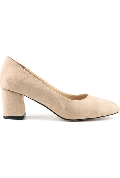 Marine Shoes Kadın Taba Süet Suni Deri Ayakkabı