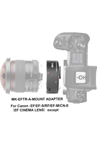 Meike Canon Eos R Için Canon Eos Ef / Efs Auto Focus Lens Adaptörü