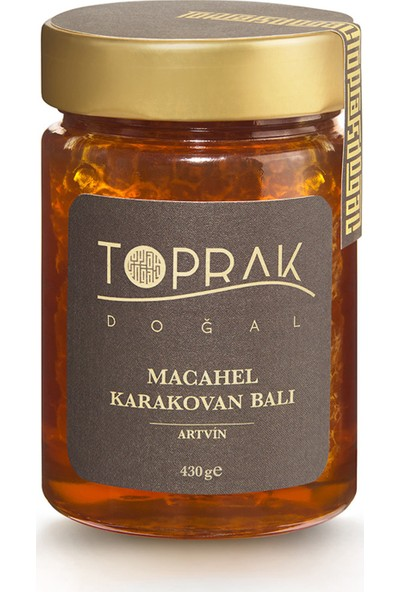 Toprak Doğal Karakovan Balı 430 gr - Macahel
