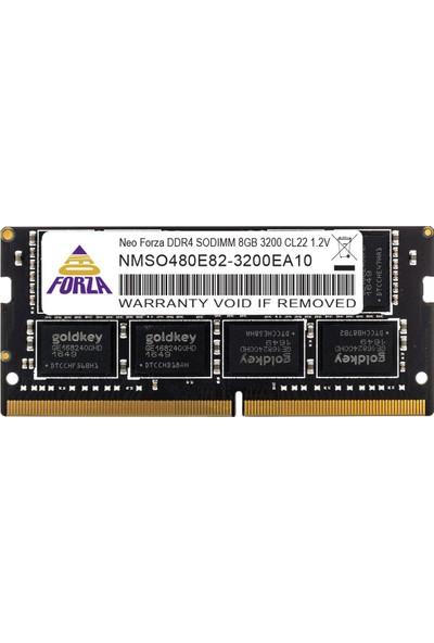 Neo Forza NeoForza 8GB 3200MHz CL22 1.2V DDR4 Notebook Ram NMSO480E82-3200EA10