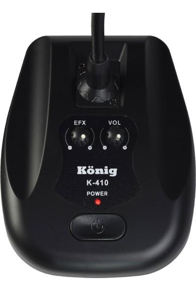 König K-410 Masa Tipi Kürsü Mikrofon Volume Kontrol