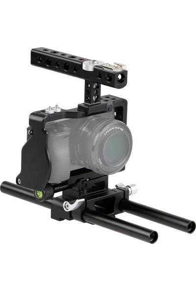 Ayex Sony A6000, A6300, A6500 Için Ayex C6 Camera Cage, Kamera Kafesi