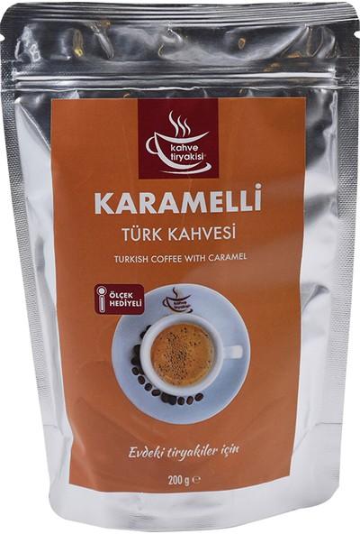 Kahve Tiryakisi Karamelli Türk Kahvesi 200 gr Paket
