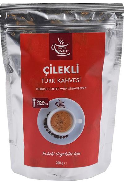 Kahve Tiryakisi Çilekli Türk Kahvesi 200 gr Paket