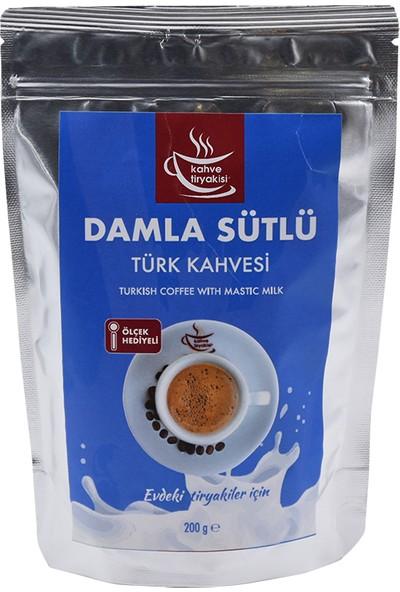 Kahve Tiryakisi Damla Sütlü Türk Kahvesi 200 gr Paket
