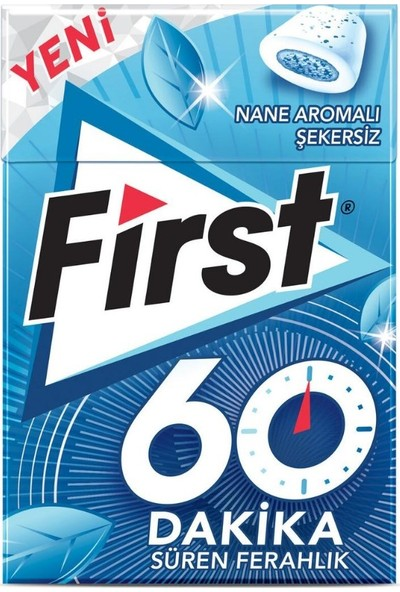 First 60 Dakika Nane Aromalı Sakız 20 gr