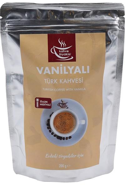Kahve Tiryakisi Vanilyalı Türk Kahvesi 200 gr Paket