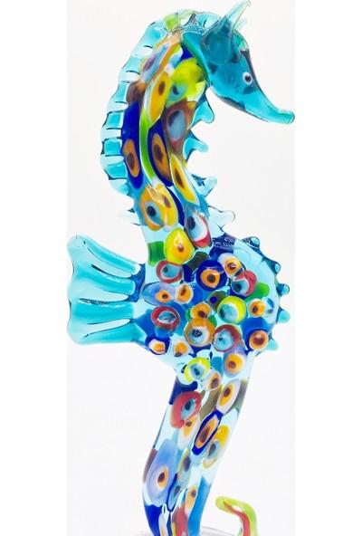Adamodart Nazarlı Denizatı Elyapımı Cam Biblo