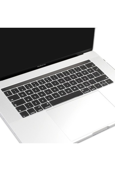 Kızılkaya Apple Yeni Macbook A1706 A1989 13 Inç A1707 A1990 Inç 15 Toucbarlı Q Klavye Koruyucu Kapağı Silikonlu Kılıf Türkçe Baskı