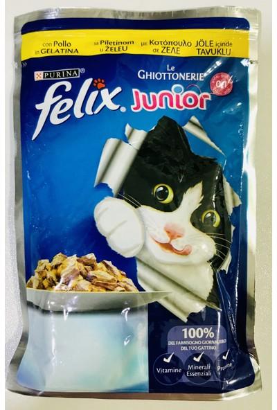 Felix Junior Tavuklu Yavru Kedi Yaş Maması 100 gr x 20 Adet