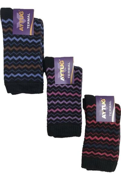 Aytuğ Aytuğkadın Renkli Kışlık Termal Soket Çorap 3'lü Paket